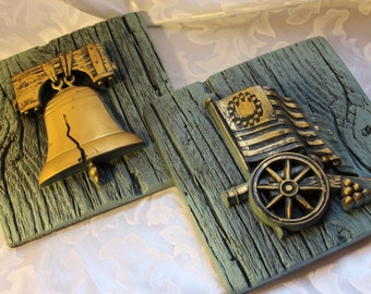 Vintage Chalkware Liberty Bell Freedom Collection