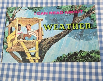 i can read about weather, vintage 1975 children's book