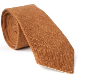 Faux Burlap Skinny Tie