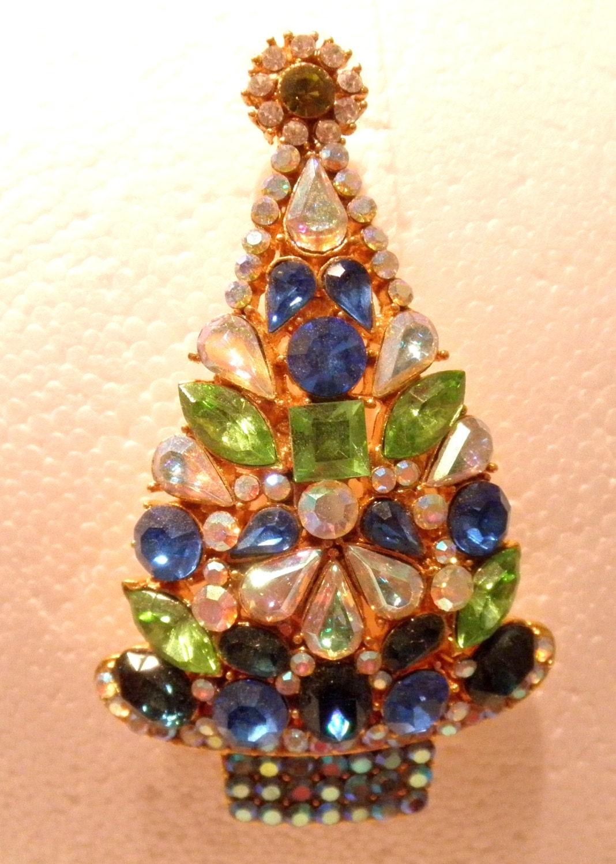 Vintage smulti color gemstone christmas tree