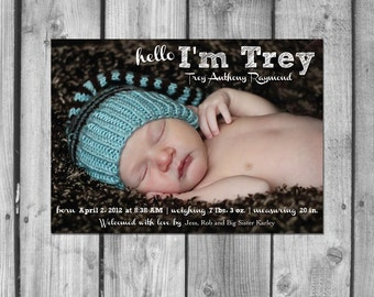 Trey Birth Announcement