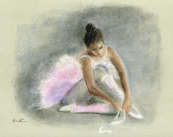 Pastel painting - Ballerina