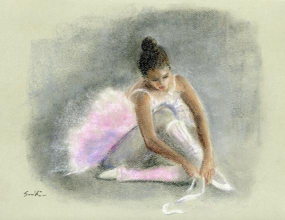 pastel painting ballerina