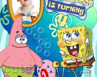 Spongebob Squarepants - Spongebob Invitation - Spongebob Birthday Invitation - Spongebob Personalized Birthday Party Invitation