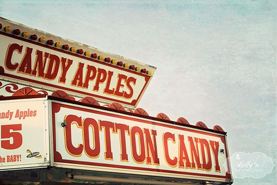Candy Stand- Fair Food- Carnival Candies- Cotton Candy- Fair Photography- Children's Decor- Nursery Decor- Red White- 8x12 Fine Art Print