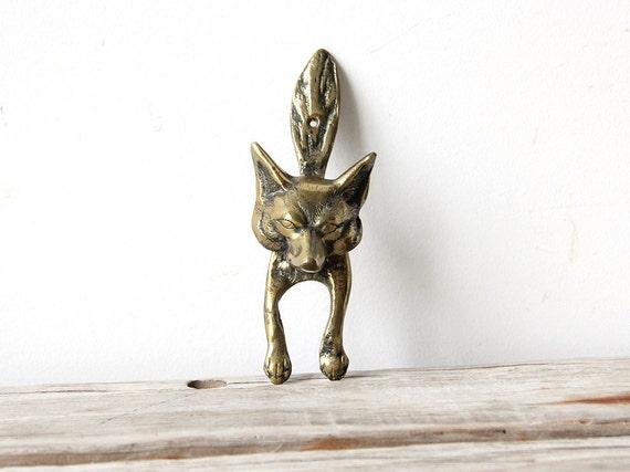 Brass fox head door knocker - Wolf head door knocker ...