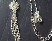 SALE! Rhinestone Necklace - Vintage Pendant - Vintage Rhinestone Necklace - Wedding Necklace