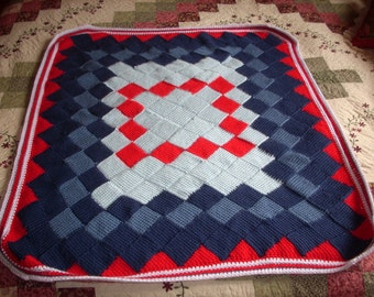 Red, White & Blue Baby Afghan/Blanket