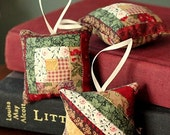 Set of 3 Balsam Filled Patchwork Sachets FREE SHIPPING