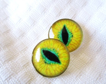18mm glass cabochons glass eyes reptile eyes for jewelry making or sculpture