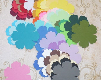 38 Stampin Up Blossom / Flower / Bloom Punchies / Shapes made from Rainbow color Cardstock for cards crafts