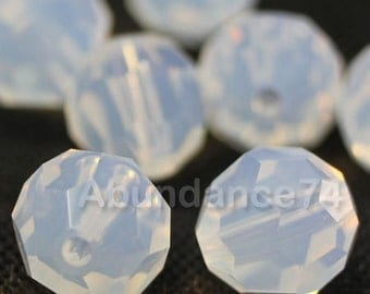 Swarovski Elements Crystal Beads 5000 Round Ball Beads WHITE OPAL - Available in 6mm and 8mm