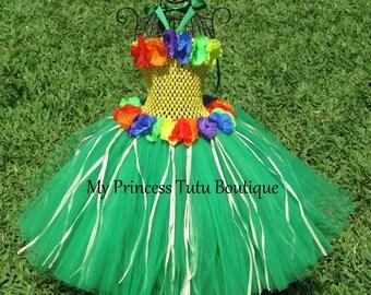 Luau Tutu Dress Hawaiian Tutu Dress Little Girls Tutus Birthday Tutus