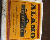 Alamo Golden Ale Natural Stone Coasters