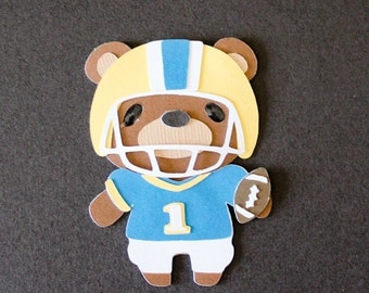 Teddy Bear Die Cut - FOOTBALL PLAYER