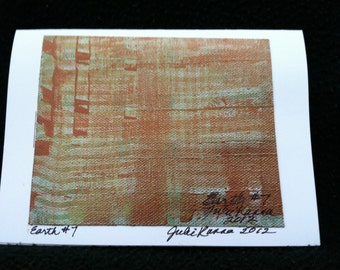 Abstract Painting (EARTH) Note Cards