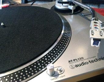 Felt Turnable Slip Mat for Vinyl LP Record Players Solid Black