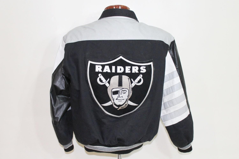 Raiders leather jacket