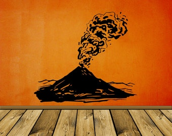 Volcano Eruption - Decal, Sticker, Vinyl, Wall, Home, Kid, Bedroom, Dorm, Office Decor