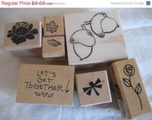 cLeArAnCe Rubber Stamps - ALL NEW - Acorns Leaves Flowers