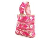 Spring Bohemian Purse Embroidered Handbag Pink Beach Bag Tote