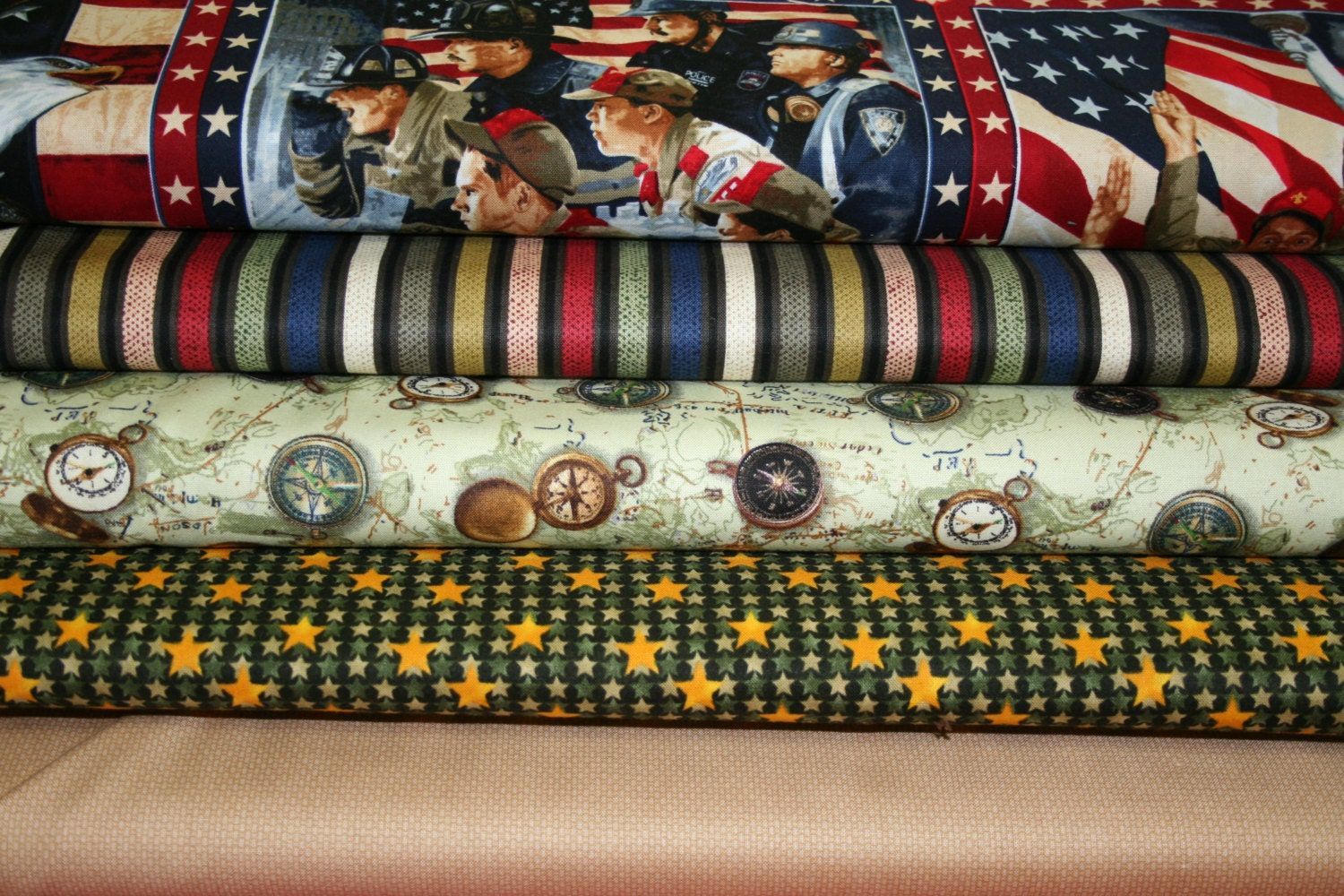 Boy Scout Fabric By Robert Kaufman And Quilting Treasures