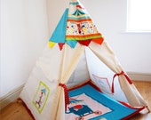 Circus play teepee children's bedroom beach garden