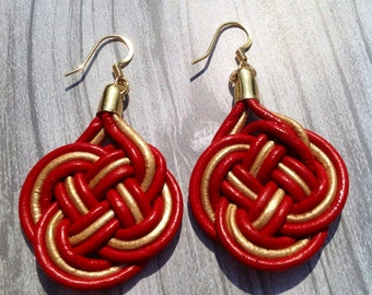 L'Amour Leather Earrings