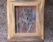 8 by 10 rustic pine picture frame