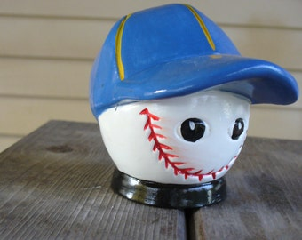 Ceramic Baseball Bank