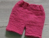 Newborn Knit Diaper Cover Girl Diaper Cover Newborn Boy's Diaper Cover / Infant shorts / Baby Shorts / diaper cover photo prop knitted pants