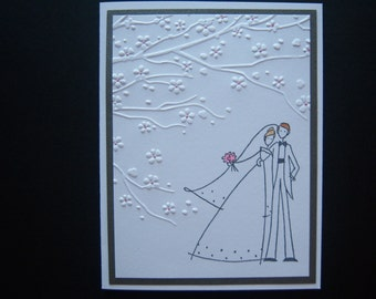 Under the Cherry Blossoms Wedding Card