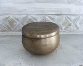 Antique Asian Brass Covered Rice Container,  Japanese