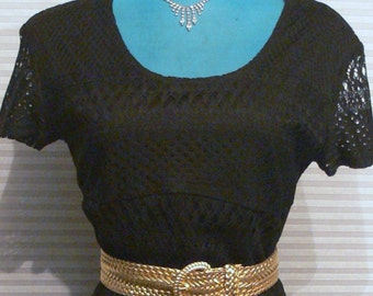 black knit  long dress size 9 or 10