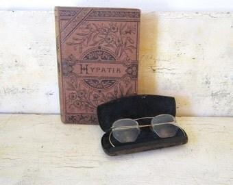 Antique Eyewear Vintage Glasses Bifocals Gift for Him 12Kt Gold glasses Optical Antique Case