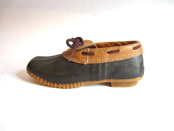 vintage bass snow duck boots 8 by cupidandpsycheltd