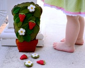 Handmade Montessori Toy. Strawberry Counting and Sorting Toy by Aly Parrott on Etsy. Made to Order.