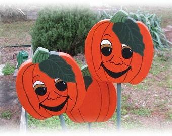 Pumpkin - Wooden Garden Personality Plant Marker -Gift for the gardener