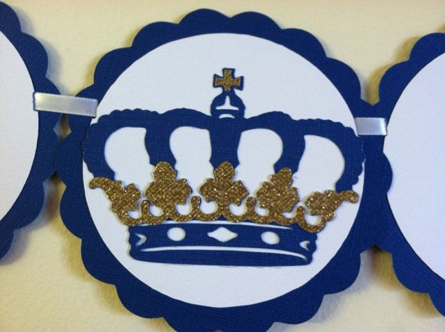prince theme it 39 s a boy banner royal baby shower prince
