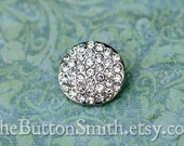 Rhinestone Buttons -Heather- (16mm) RS-048 - 5 piece set