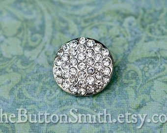 Rhinestone Buttons -Heather- (16mm) RS-048 - 5 piece set