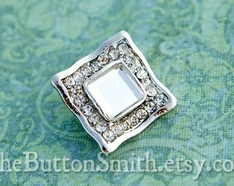 Rhinestone Buttons -Sadie- (25mm) RS-018 - 5 piece set