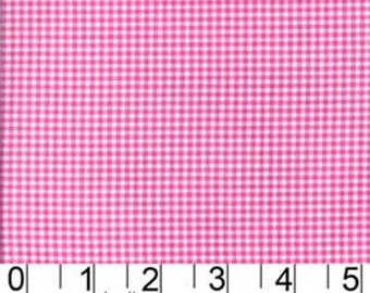 Michael Miller Fabric for quilt or craft Tiny Gingham in Raspberry half yard