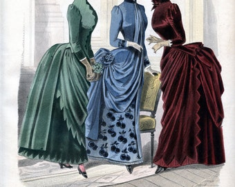 Fashion illustration-Victorian fashion-Old fashion-Victorian era-Queen Victoria