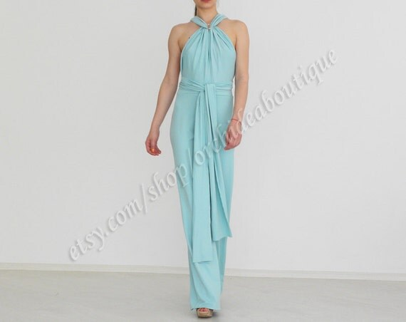 Convertible Infinity Wrap Chameleon Jumpsuit  Bottoms pants overall mint blue