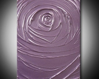 HUGE 40% SALE Painting Light Purple Lavender Lilac Abstract Acrylic Vortex of Creation Amethyst 11x14 High Quality Original Modern Fine Art