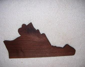 Virginia cutting board  made from  walnut