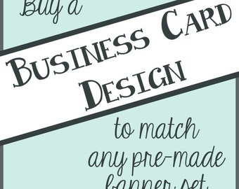 Business Card Design to Match Any Banner Set in the Shop