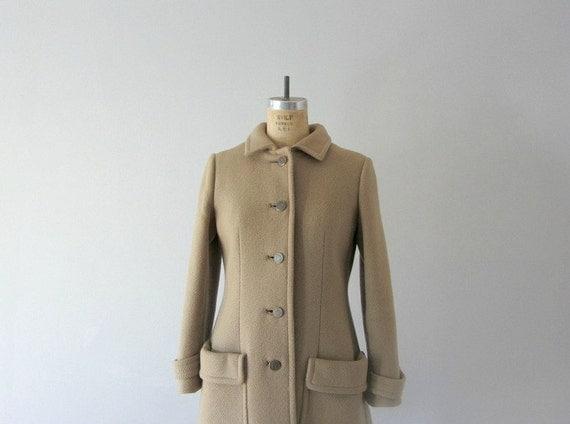1960s wool coat . vintage 60s coat . brown winter jacket