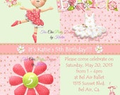 Ballerina invitation, PRINTABLE file